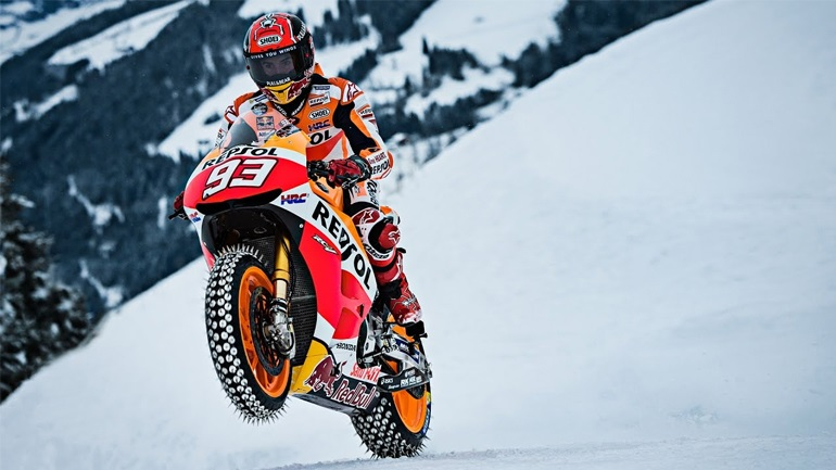 MotoGP #Throwback: Marc Marquez on.. Ice!