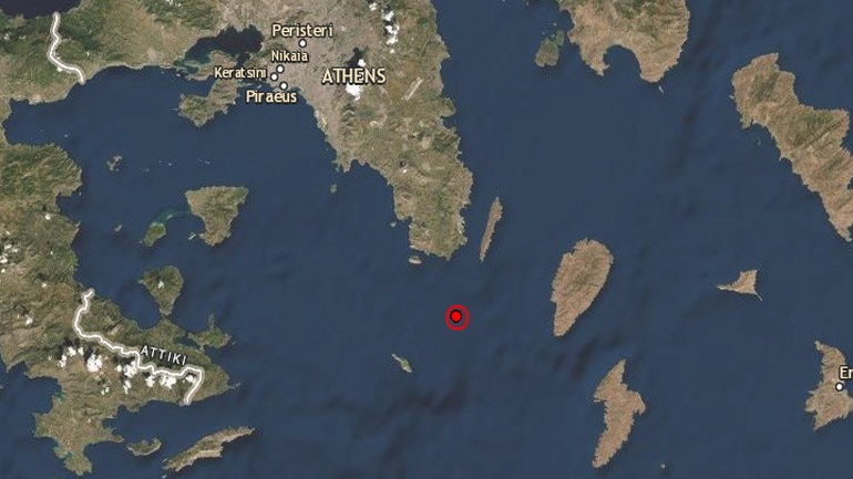 Σεισμική δόνηση 4,7 Ρίχτερ σε θαλάσσια περιοχή νότια της Αττικής