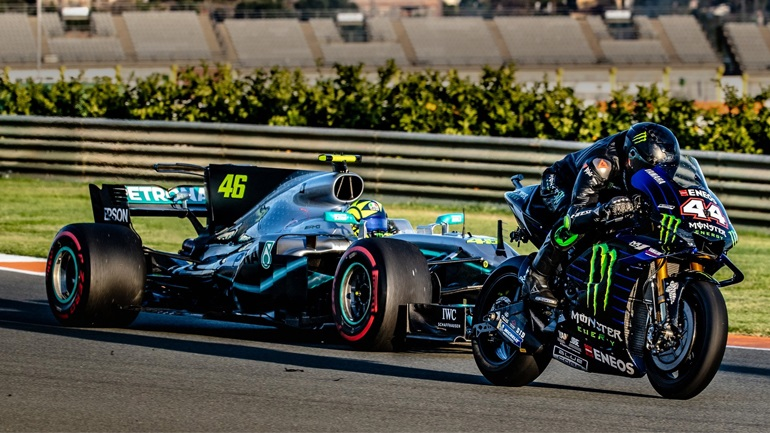 Ο Rossi στην F1, ο Hamilton στο MotoGP!