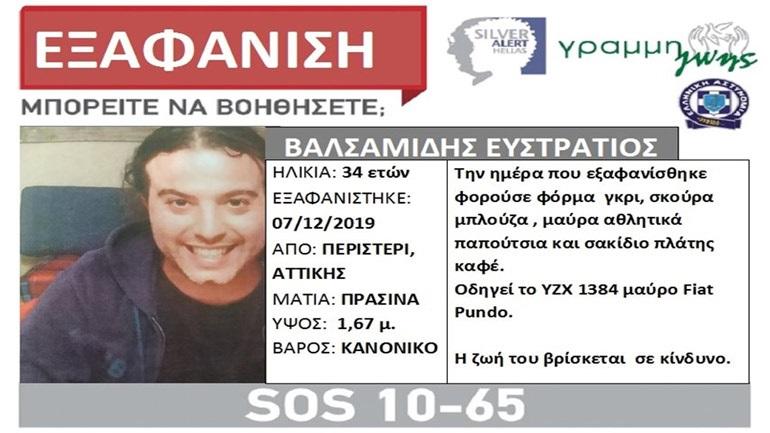 Νεκρός στο αυτοκίνητό του εντοπίστηκε o αγνοούμενος ηθοποιός Στράτος Βαλσαμίδης