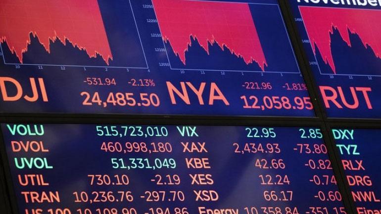 Μεγάλη πτώση στη Wall Street - Ο Dow Jones χάνει πάνω από 400 μονάδες