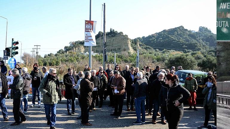 Κλειστό τμήμα της εθνικής οδού Πατρών-Πύργου λόγω διαμαρτυρίας κατοίκων