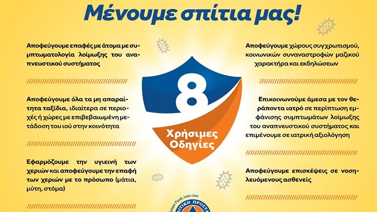 Γενική Γραμματεία Πολιτικής Προστασίας: Οκτώ οδηγίες για τις ευπαθείς ομάδες