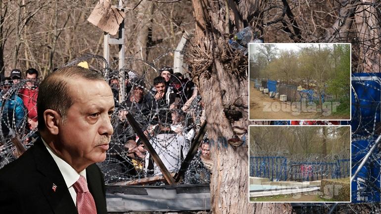 Εκκένωσε τους καταυλισμούς μεταναστών στον Έβρο o Ερντογάν