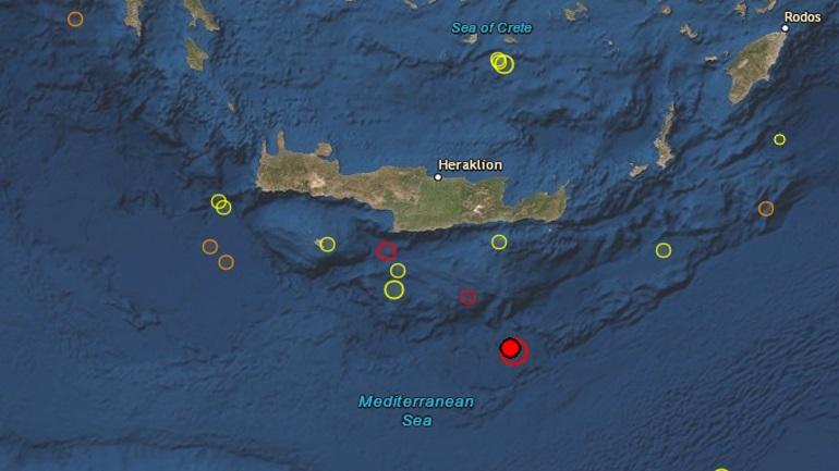 Ισχυρός σεισμός 6 Ρίχτερ σε θαλάσσια περιοχή νότια της Κρήτης
