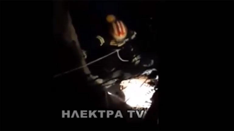 Λουτράκι: Συγκλονιστικά βίντεο από την ανάσυρση των πτωμάτων των τεσσάρων άτυχων ανδρών
