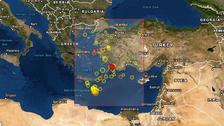 Σεισμός 3.9 Ρίχτερ στα Δωδεκάνησα