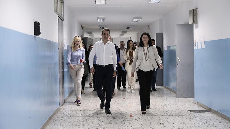 Το 7ο Γυμνάσιο Αθηνών επισκέφθηκε ο Κυριάκος Μητσοτάκης