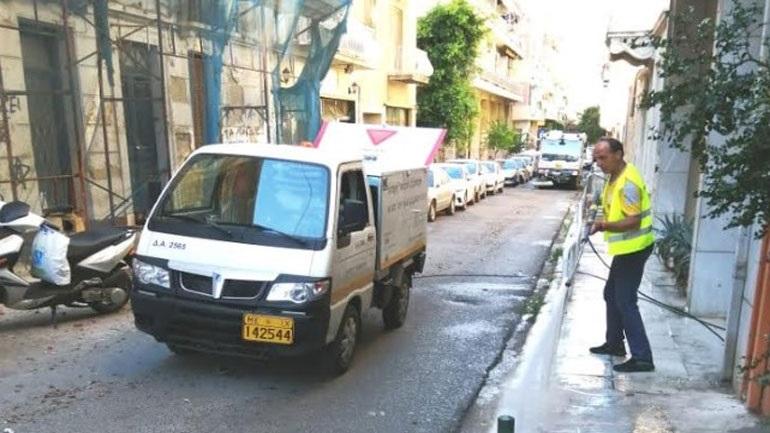 Kυριακάτικη δράση καθαριότητας του Δήμου Αθηναίων στη Νεάπολη Εξαρχείων