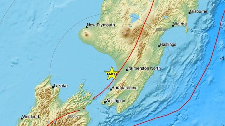 Νέα Ζηλανδία: Σεισμική δόνηση 5,9R κοντά στο Ουέλινγκτον