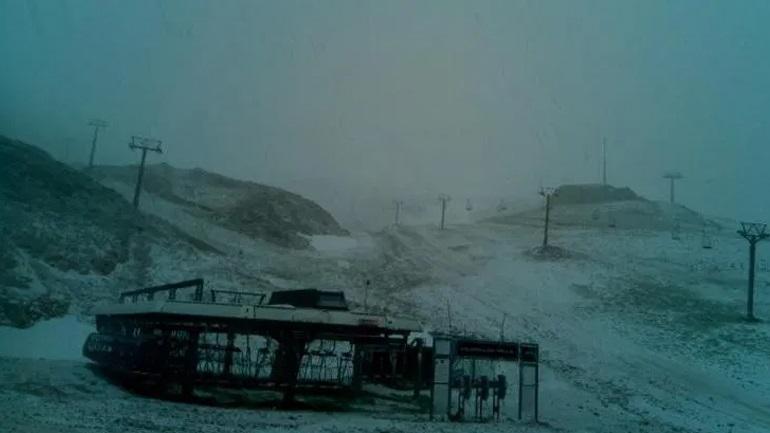 Χιόνισε στον Παρνασσό