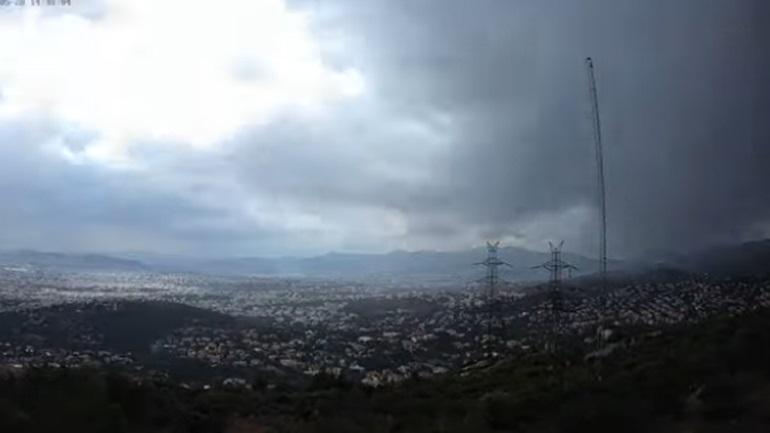 Εντυπωσιακό βίντεο του meteo: Η καταιγίδα στην Αττική