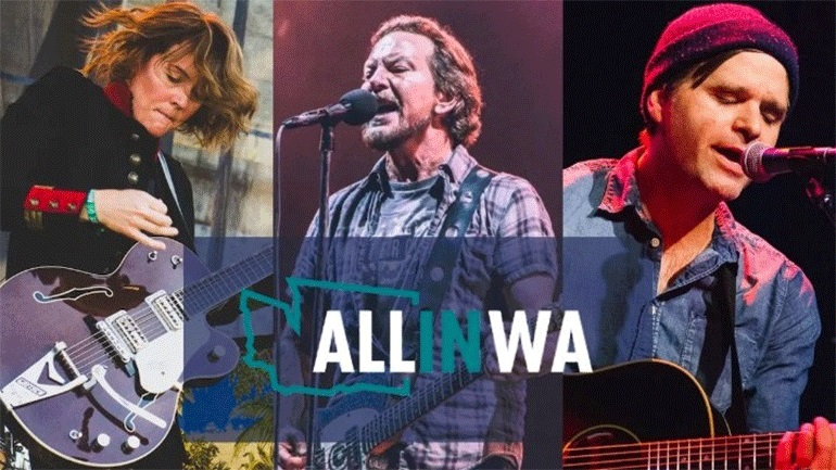 Pearl Jam, Μπράντι Καρλάιλ, Μπεν Γκίμπαρντ σε online συναυλία της «All In WA»
