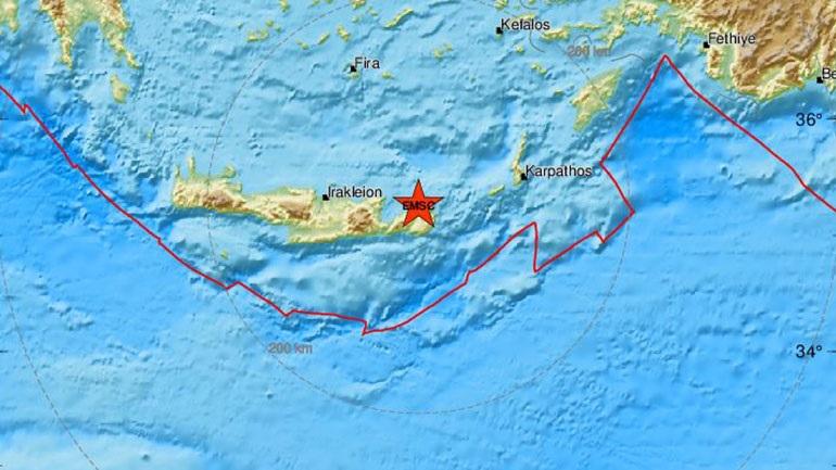 Δύο διαδοχικές σεισμικές δονήσεις στην Κρήτη