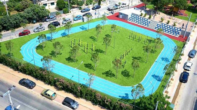 Ένας ανοιχτός αθλητικός πολυχώρος δημιουργήθηκε την περίοδο της καραντίνας στον δήμο Γλυφάδας