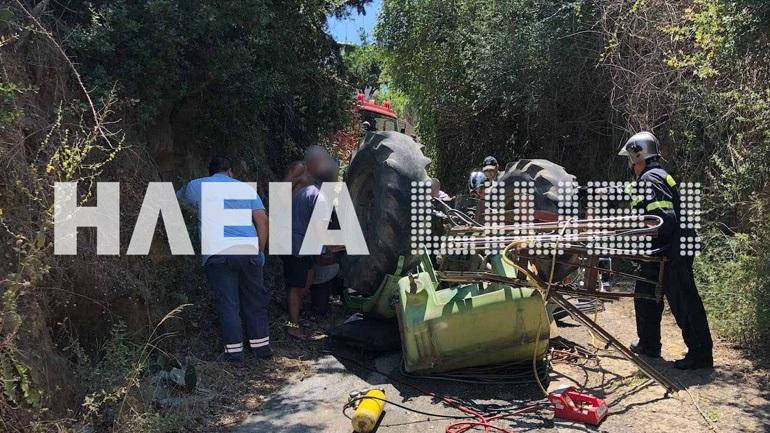 Tραγικό τέλος για 85χρονο στο Περιστέρι Αμαλιάδας - Καταπλακώθηκε από το τρακτέρ του