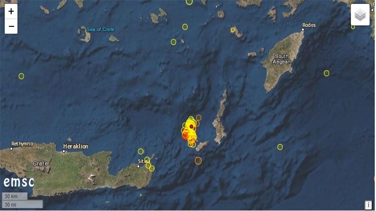 Σεισμός 4,2 Ρίχτερ ανοικτά της Κρήτης