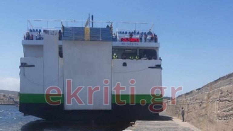 Ισχυροί άνεμοι στην Κρήτη δεν αφήνουν καπετάνιο να δέσει πλοίο με 117 επιβάτες