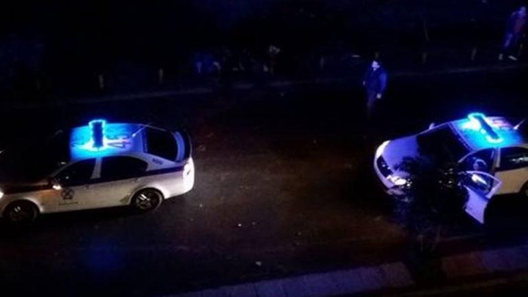 Καταδίωξη διακινητή μεταναστών - Έπεσε με αυτοκίνητο πάνω σε φορτηγό