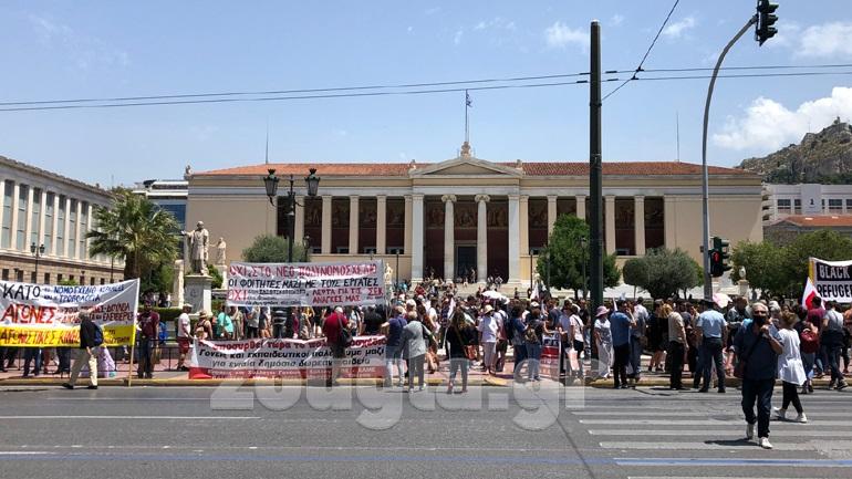 Πανεκπαιδευτικό συλλαλητήριο  στα Προπύλαια