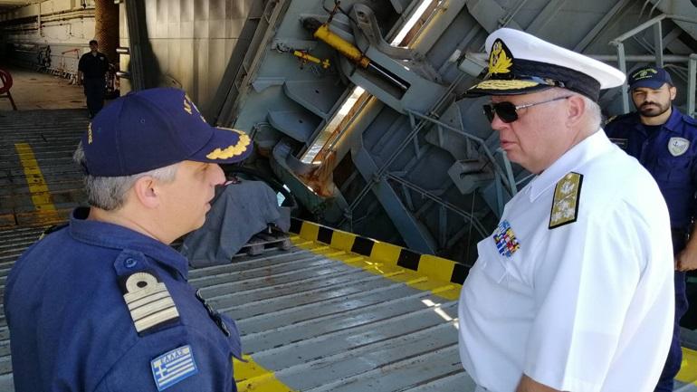 Ο αρχηγός του Γενικού Επιτελείου Ναυτικού στον ναύσταθμο Κρήτης