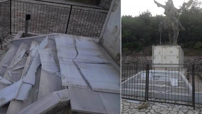 Βανδάλισαν μνημείο του Κολοκοτρώνη στη Μεσσηνία