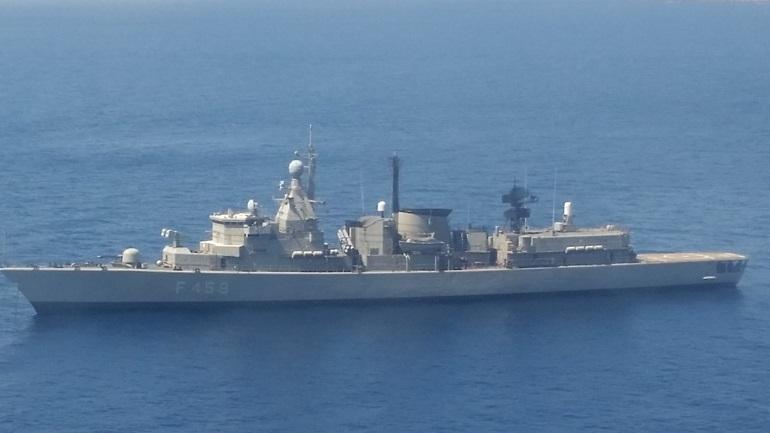 Συνεκπαίδευση ελληνικής φρεγάτας και υποβρυχίου με πολεμικό αεροσκάφος των ΗΠΑ νότια της Κρήτης