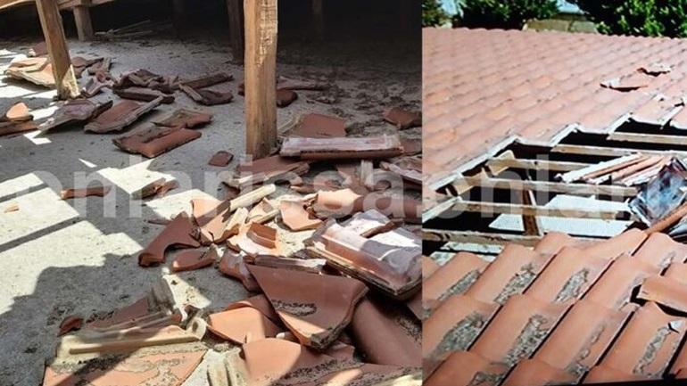 Αεροσκάφος ξήλωσε σκεπή σπιτιού σε χωριό της Λάρισας