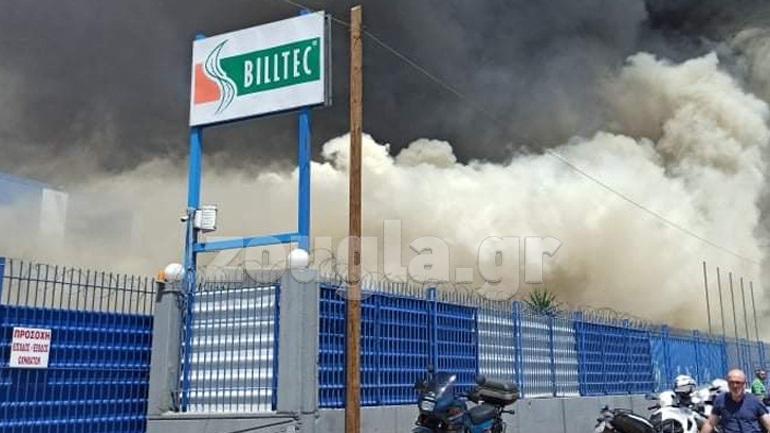 Μεγάλη πυρκαγιά σε εργοστάσιο στον Ασπρόπυργο