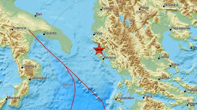 Σεισμός 3,6 Ρίχτερ κοντά στην Κέρκυρα