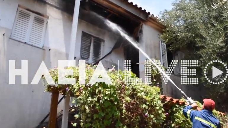 Τραγωδία στην Ηλεία: Ηλικιωμένος απανθρακώθηκε από πυρκαγιά σε σπίτι