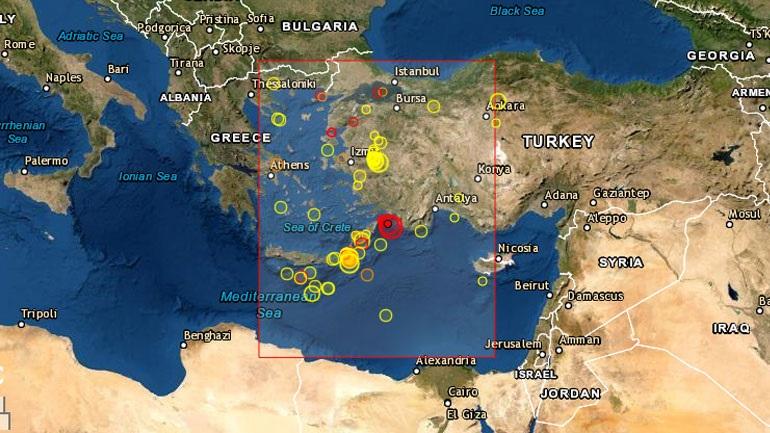 Σεισμός 4.7 Ρίχτερ στα Δωδεκάνησα