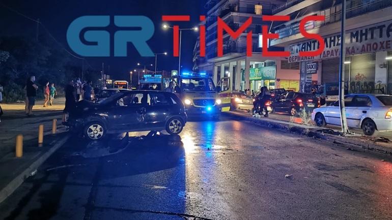 Δύο τραυματίες σε τροχαίο στη Θεσσαλονίκη