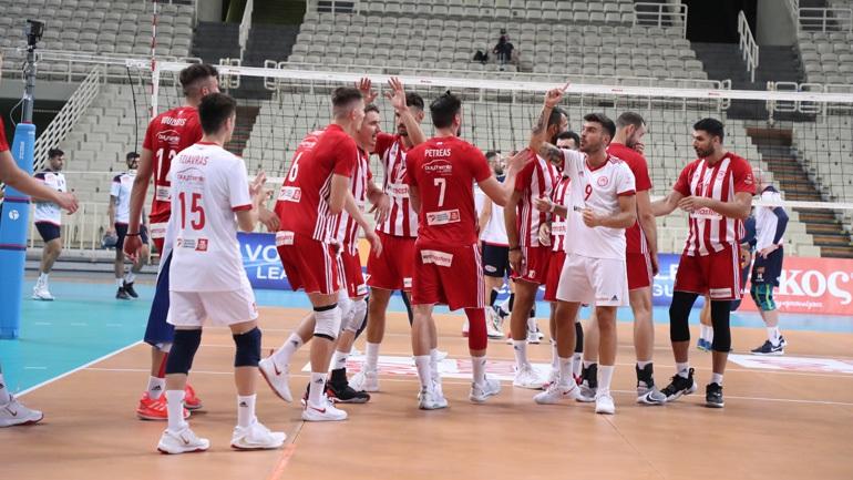 Volley League: Ισοφάρισε τη σειρά ο Ολυμπιακός, 3-0 τον Φοίνικα