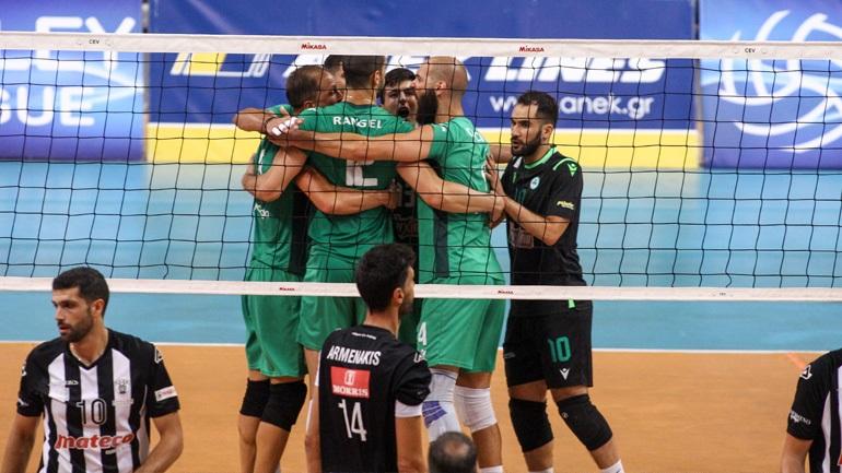 Volley League: Στους τελικούς ο Παναθηναϊκός, 3-0 τον ΠΑΟΚ