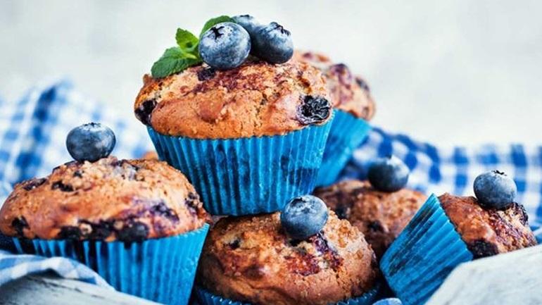 Blueberry Muffins: Ένα επιδόρπιο με λίγες θερμίδες!