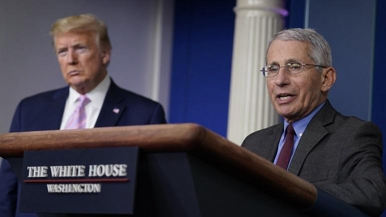 ΗΠΑ-Covid-19: Ο Τραμπ «δεν συμφωνεί» με την ανάλυση του Δρ. Φάουτσι για την κατάσταση στη χώρα