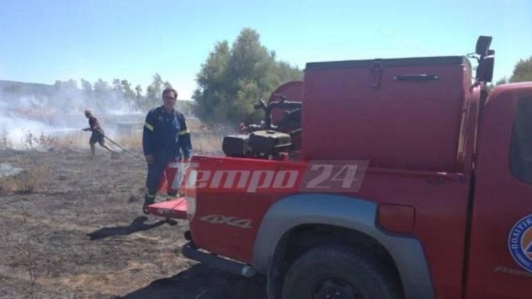 Yπό μερικό έλεγχο η πυρκαγιά στη Ράχη Αχαΐας