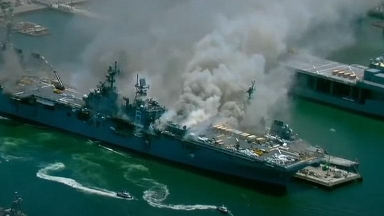 ΗΠΑ: Πυρκαγιά σε πολεμικό πλοίο, σε βάση στο Σαν Ντιέγκο
