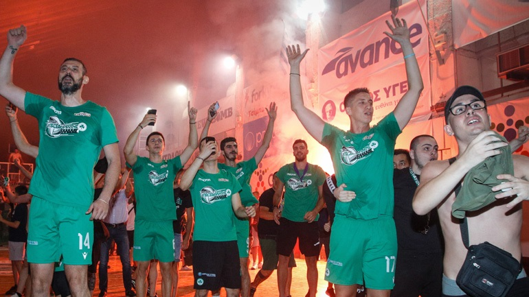 Βόλεϊ: Αποθέωση για τον πρωταθλητή Παναθηναϊκό στο κατάμεστο «Παύλος Γιαννακόπουλος»