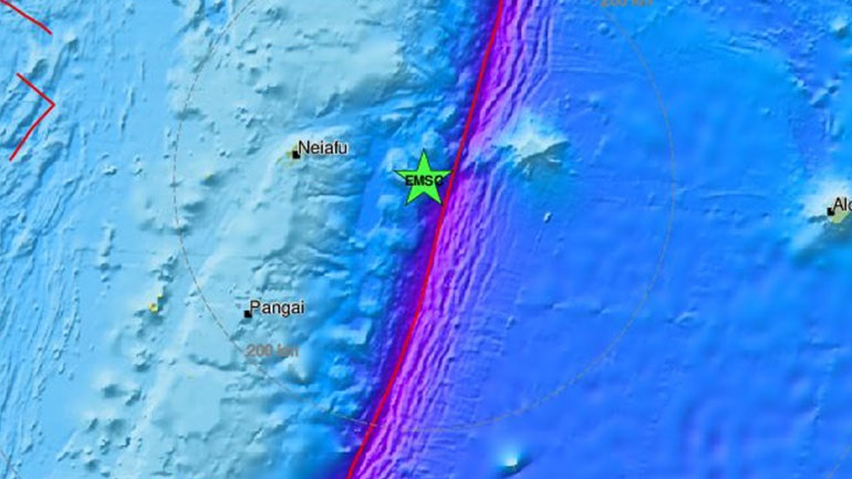 Σεισμός 5,8 Ρίχτερ στην Ωκεανία