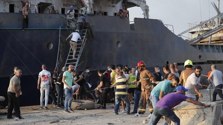Εκρήξεις στη Βηρυτό: Επλήγη πολεμικό πλοίο της δύναμης του ΟΗΕ στον Λίβανο
