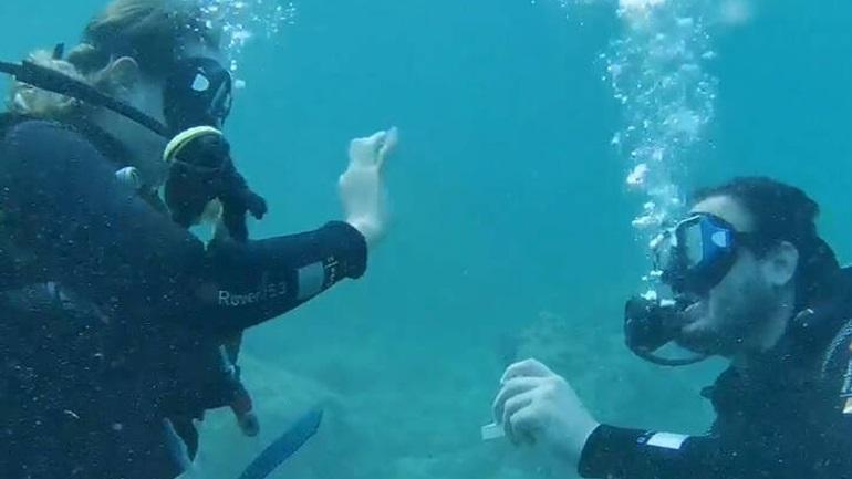 Υποβρύχια πρόταση γάμου στην Αλόννησο