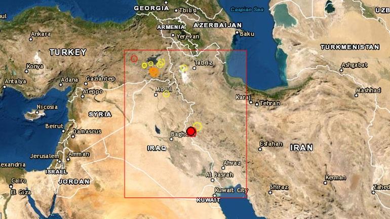 Σεισμική δόνηση 4,9 Ρίχτερ ανάμεσα στα σύνορα Ιράν με Ιράκ