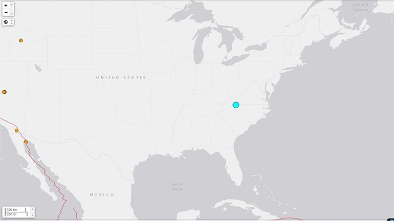 Σεισμός 5,1 Ρίχτερ στη Βόρεια Καρολίνα - Ο ισχυρότερος των τελευταίων 114 ετών