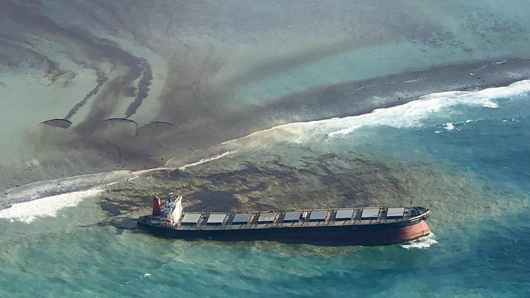 Μαυρίκιος: Σταμάτησε η διαρροή πετρελαίου από το ιαπωνικό φορτηγό πλοίο MV Wakashio