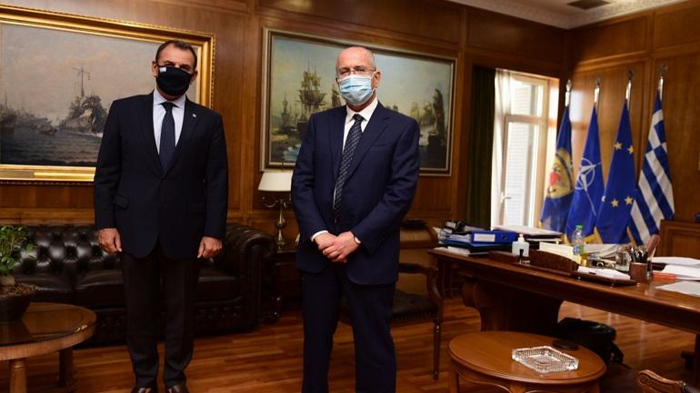 Συνάντηση του υπουργού Εθνικής Άμυνας Νικόλαου Παναγιωτόπουλου με τον Πρέσβη του Ισραήλ Γιόσι Αμράνι