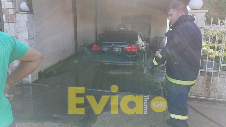 Παρανάλωμα του πυρός ένα αυτοκίνητο στα Ψαχνά Ευβοίας