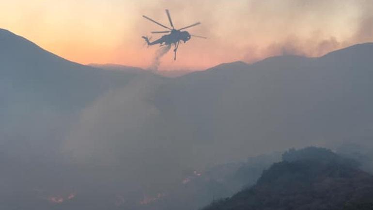 Κεφαλονιά: Σε εξέλιξη μεγάλη πυρκαγιά στην περιοχή Αννινάτα