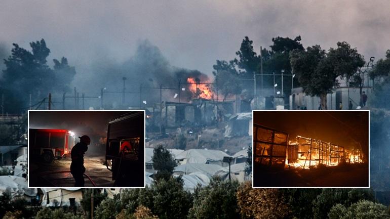 Κόλαση στην Λέσβο! Κάηκε το ΚΥΤ Μόριας από τους μετανάστες